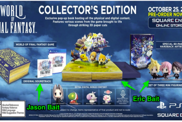 World of Final Fantasy Collector's Edition & New Images